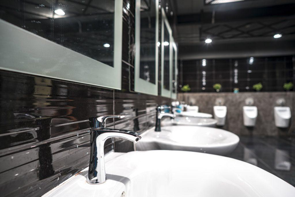 public restroom blumbing