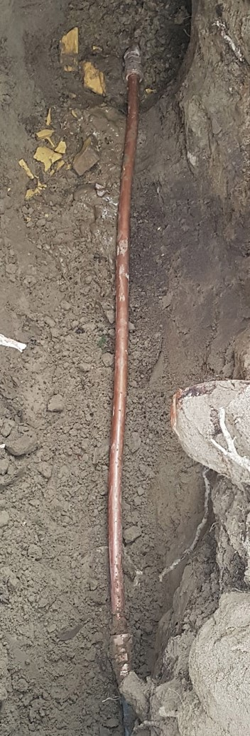 copper water line