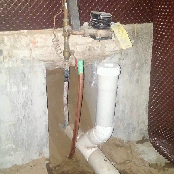connecting the water line to a home