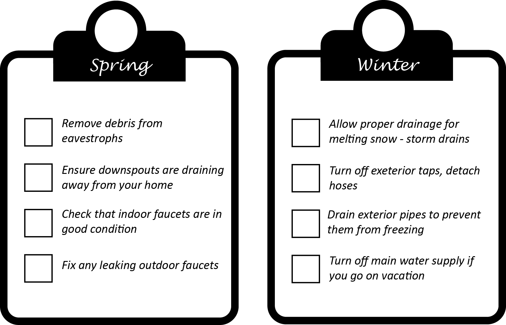 Seasonal Checklist